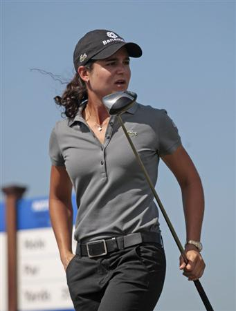 PRATTVILLE, AL - SEPTEMBER 26:   Lorena Ochoa of Mexico waches her drive from the 3rd tee during second round play in the Navistar LPGA Classic at the Robert Trent Jones Golf Trail at Capitol Hill on September 26, 2008 in Prattville, Alabama.  (Photo by Dave Martin/Getty Images)