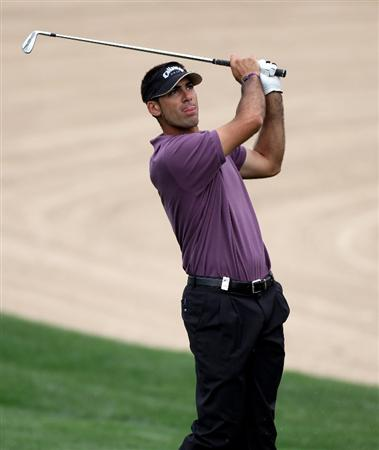 DUBAI, UNITED ARAB EMIRATES - FEBRUARY 06:  Alvaro Quiros of Spain during the third round of the Omega Dubai Desert Classic on the Majlis Course at the Emirates Golf Club on February 6, 2010 in Dubai, United Arab Emirates.  (Photo by Ross Kinnaird/Getty Images)