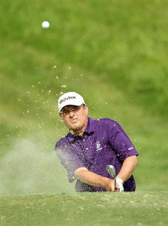 LOUISVILLE, KY - MAY 29: Loren Roberts hits his third shot on the par 5 17th hole during the Senior PGA Championship presented by KitchenAid at Valhalla Golf Club on May 29, 2011 in Louisville, Kentucky.  (Photo by Andy Lyons/Getty Images)
