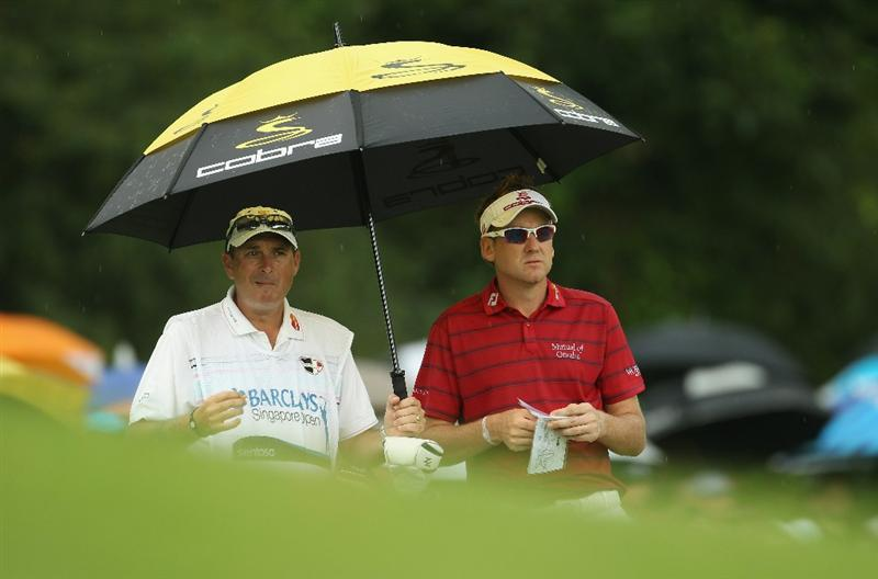 SINGAPORE - NOVEMBER 14:  Ian Poulter of England looks on during the Final Round of the Barclays Singapore Open at Sentosa Golf Club on November 14, 2010 in Singapore, Singapore.  (Photo by Ian Walton/Getty Images)