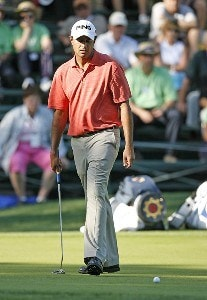 Arjun Atwal on the 8th green during the first round of the 2006 Verizon Herizon Heritage Classic Thursday, April 13, 2006, at Harbour Town Golf Links in Hilton Head Island, South Carolina.Photo by Kevin C.  Cox/WireImage.com
