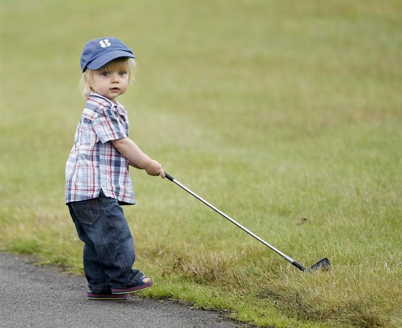 CHRISTCHURCH, NEW ZEALAND - JANUARY 24:  One year old Jackson Moorhead, son golfer Grant Moorhead of New Zealand during day four of the NZPGA Championship at Clearwater Golf Course on January 24, 2010 in Christchurch, New Zealand.  (Photo by Martin Hunter/Getty Images)