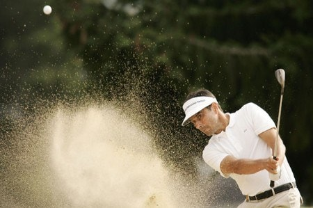 Jean Van De Velde during the second round of the 2005 Omega European Masters at the Crans-sur-Sierre Golf Club . September 2, 2005Photo by Pete Fontaine/WireImage.com