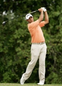 Arjun Atwal hits from the third tee during the third round of the Movistar Panama Championship held on January 26, 2008 at Club de Golf de Panama in Panama City, Panama. Nationwide Tour - 2008 Movistar Panama Championship - Round ThreePhoto by Stan Badz/PGA TOUR/Getty Images