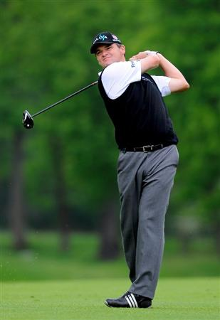 TURIN, ITALY - MAY 08:  Paul Lawrie of Scotland plays his approach shot on the eighth hole during the third round of the BMW Italian Open at Royal Park I Roveri on May 8, 2010 in Turin, Italy.  (Photo by Stuart Franklin/Getty Images)