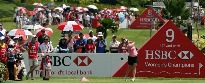 SINGAPORE - FEBRUARY 26: Brittany Lincicome of the USA during the third round of the HSBC Women's Champions at Tanah Merah Country Club  on February 26, 2011 in Singapore, Singapore.  (Photo by Ross Kinnaird/Getty Images)
