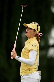 EDINA, MN - JUNE 28:  Paula Creamer reacts to missing her birdie putt on the 13th hole during the third round of the 2008 U.S. Women's Open at Interlachen Country Club on June 28, 2008 in Edina, Minnesota.  (Photo by Travis Lindquist/Getty Images)