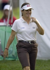 Lorie Kane during the first round of  the Canadian Women's Open at the London Hunt and Country Club in London, Ontario on August 10, 2006.Photo by Steve Levin/WireImage.com