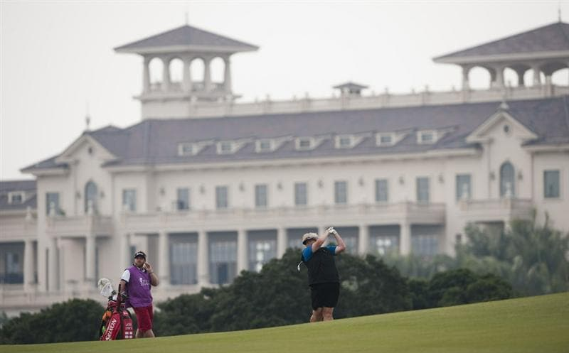 HAIKOU, CHINA - OCTOBER 28:  Laura Davies of England during the pro-am for the Mission Hills Star Trophy on October 28, 2010 in Haikou, China. The Mission Hills Star Trophy is Asia's leading leisure liflestyle event and features Hollywood celebrities and international golf stars.  (Photo by Victor Fraile/Getty Images for Mission Hills)