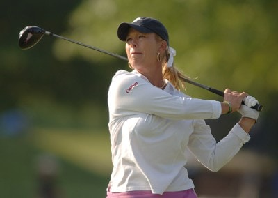 Michelle McGann in action during the second round of the 2006 Franklin American Mortgage Championship benefiting the Monroe Carell Jr. Children's Hospital at Vanderbilt at Vanderbilt Legends Club in Franklin, Tennessee on May 5, 2006.Photo by Steve Grayson/WireImage.com