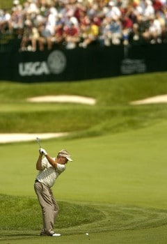 Wayne Levi in action during the second round of the 2005 U.S. Senior Open Championship at NCR Country Club in Kettering, Ohio July 29, 2005.Photo by Steve Grayson/WireImage.com