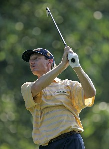 Brad Faxon during the first round of the Booz Allen Classic at TPC Avenel in Potomac, Maryland, on June 22, 2006.Photo by Hunter Martin/WireImage.com