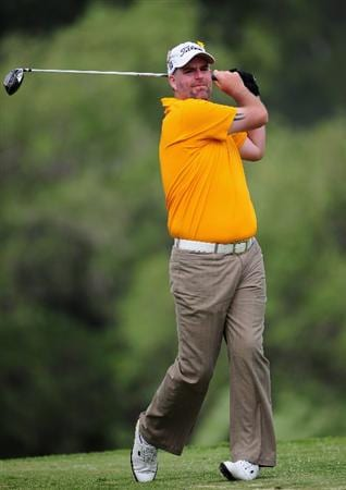 JOHANNESBURG, SOUTH AFRICA - JANUARY 14:  Kenneth Ferrie of England plays his tee shot during the first round of the Joburg Open at Royal Johannesburg and Kensington Golf Club on January 14, 2010 in Johannesburg, South Africa.  (Photo by Stuart Franklin/Getty Images)