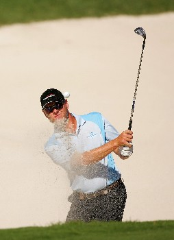 SYDNEY, AUSTRALIA - DECEMBER 14:  Andrew Bonhomme of Australia hits out of the bunker on the 6th hole during round two of the Australian Open Championship at The Australian Golf Club on December 14, 2007 in Sydney, Australia.  (Photo by Ezra Shaw/Getty Images)