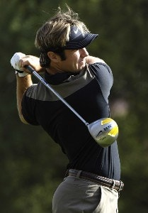Arron Oberholser in action during the first round of the FBR Open  at the TPC Players Course  on Photo by Marc Feldman/WireImage.com