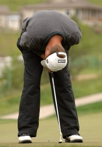 Matthew Jones reacts to a missed putt during the final round of the Nationwide's TOUR 2006 Livermore Valley Wine Country Championship at The Course at Wente Vineyards in Livermore, California April 2, 2006.Photo by Steve Grayson/WireImage.com
