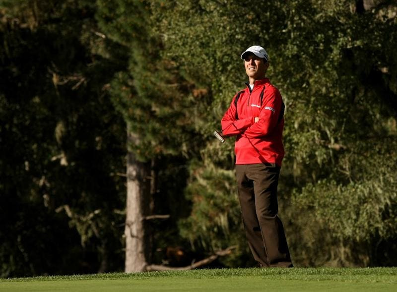 PEBBLE BEACH, CA - FEBRUARY 14: Mike Weir of Canada waits to putt on the the 11th hole on Spyglass Hill Golf Course during the third round of the the AT&T Pebble Beach National Pro-Am on February 14, 2009 in Pebble Beach, California. (Photo by Stephen Dunn/Getty Images)