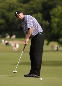 J.J. Henry in action during the third round of the 2007 Crowne Plaza Invitational at Colonial at the Colonial Country Club in Fort Worth, Texas, on May 26, 2007. PGA TOUR - 2007 Crowne Plaza Invitational at Colonial - Third RoundPhoto by Steve Grayson/WireImage.com