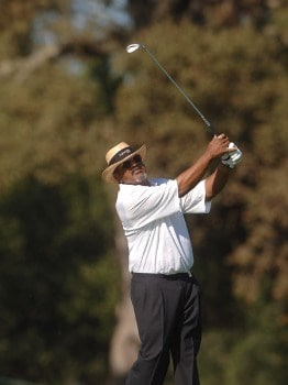 Jim  Thorpe hits from the 10th fairway during the final round of the 2005 Charles Schwab Cup Championship at Sonoma Golf Club in Sonoma, California October 30, 2005.Photo by Steve Grayson/WireImage.com