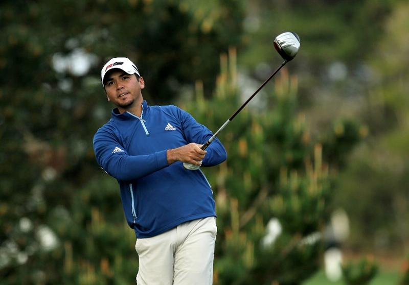 PEBBLE BEACH, CA - FEBRUARY 11:  Jason Day hits his tee shot on the second hole during the first round of the AT&T Pebble Beach National Pro-Am at Pebble Beach Golf Links on February 11, 2010 in Pebble Beach, California.  (Photo by Stephen Dunn/Getty Images)