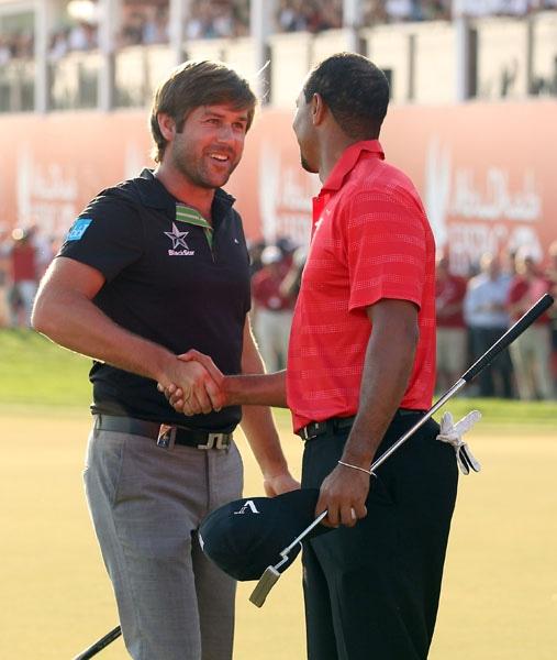Robert Rock and Tiger Woods