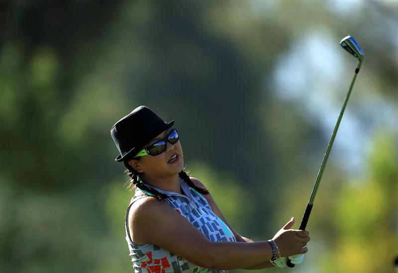 RANCHO MIRAGE, CA - MARCH 31:  Christina Kim of the USA during the pro-am as a preview for the 2010 Kraft Nabisco Championship, on Dinah Shore Course at The Mission Hills Country Club, on March 31, 2010 in Rancho Mirage, California.  (Photo by David Cannon/Getty Images)