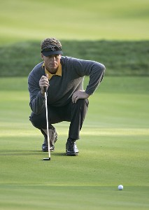 John Senden lining up a putt during the second round for THE PLAYERS Championship held at the TPC Stadium Course in Ponte Vedra Beach, Florida on March 24, 2006.Photo by Michael Cohen/WireImage.com