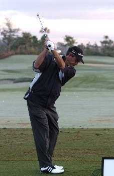 Steve Pate competes  in  second  round competition at the 2005 Honda Classic March 11, 2005 in Palm Beach Gardens, Florida.
