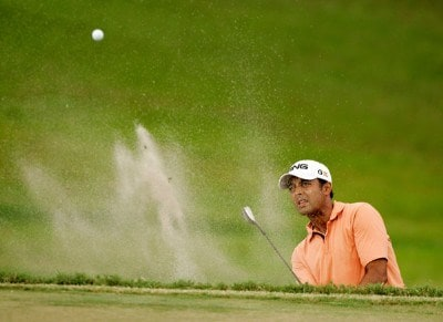 Arjun Atwal hits from the bunker at the 9th green during the third round of the Movistar Panama Championship held on January 26, 2008 at Club de Golf de Panama in Panama City, Panama. Nationwide Tour - 2008 Movistar Panama Championship - Round ThreePhoto by Stan Badz/PGA TOUR/Getty Images