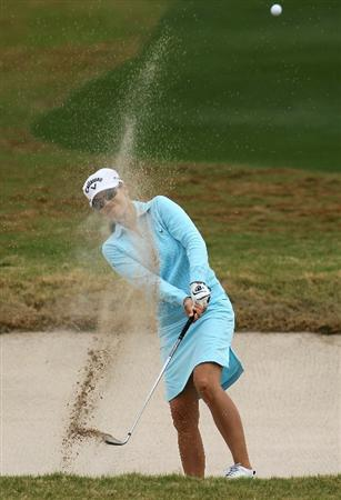 PHOENIX, AZ - MARCH 20:  Leta Lindley hits out of a bunker on the seventh hole during the final round of the RR Donnelley LPGA Founders Cup at Wildfire Golf Club on March 20, 2011 in Phoenix, Arizona. (Photo by Stephen Dunn/Getty Images)