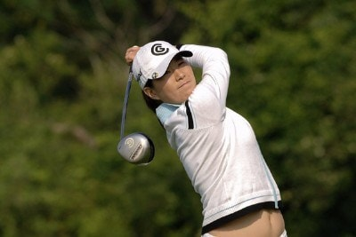 Shi Hyun Ahn during the third round  at Newport Country Club, site of the 2006 U. S. Women's Open in Newport, Rhode Island, July 2.Photo by Al Messerschmidt/WireImage.com