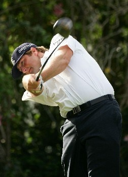 HONOLULU - JANUARY 10: Steve Marino tees off on the ninth hole during the first round of the Sony Open at the Waialae Country Club January 10, 2008 in Honolulu, Oahu, Hawaii.  (Photo by Jonathan Ferrey/Getty Images)