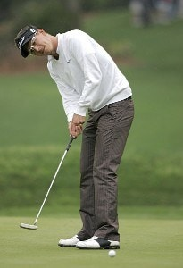 Fredrik Jacobson during the first round for THE PLAYERS Championship held at the TPC Stadium Course in Ponte Vedra Beach, Florida on March 23, 2006.Photo by Stan Badz/PGA TOUR/WireImage.com