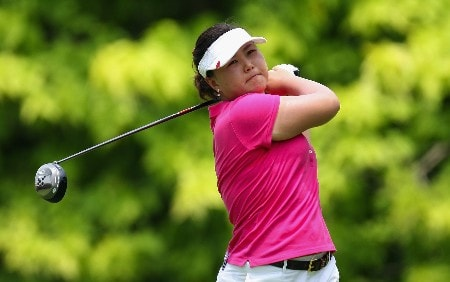 SINGAPORE - FEBRUARY 28:  Gloria Park of South Korea on the par four 6th hole during the first round of the HSBC Women's Champions at the Tanah Merah Country Club on February 28, 2008 in Singapore.  (Photo by Ross Kinnaird/Getty Images)