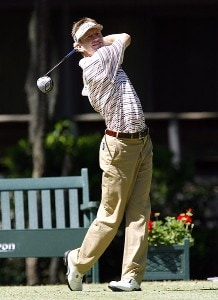 Brad Faxon tees off the 15th hole during the final round of the 2006 Verizon Herizon Heritage Classic Sunday, April 16, 2006, at Harbour Town Golf Links in Hilton Head Island, South Carolina.Photo by Kevin C.  Cox/WireImage.com