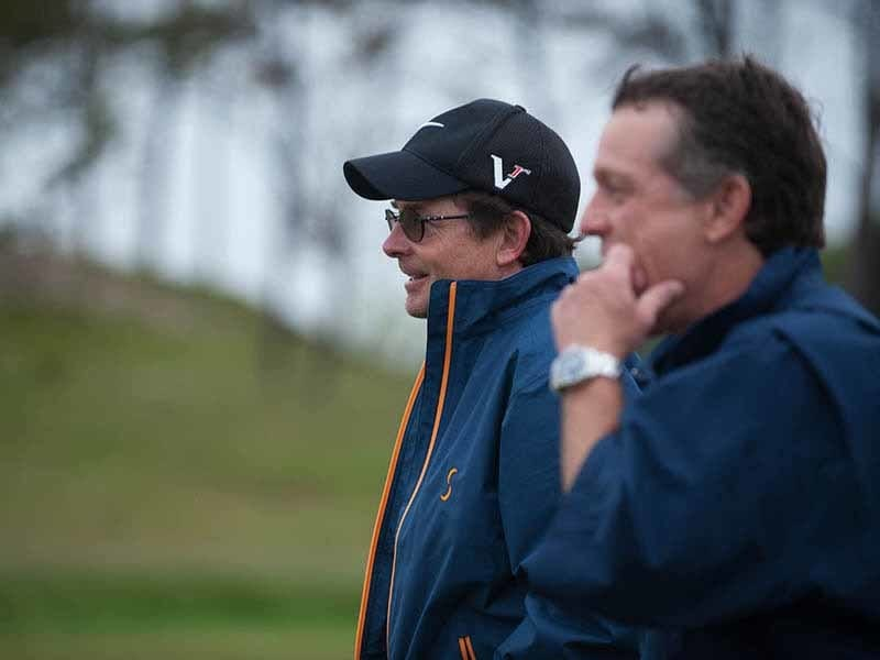 Michael J. Fox and Jimmy Roberts