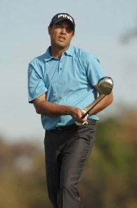 Arjun Atwal hits from the second tee during the third round of the PGA TOUR's 2006 Buick Invitationa at Torrey Pines South in La Jolla, California January 28, 2006.Photo by Steve Grayson/WireImage.com
