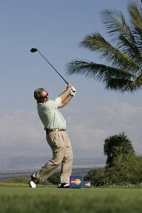 Fuzzy Zoeller in action during the Wednesday Pro-Am at the 2006 Mastercard Championship  at Hualalai resort,  Kona, Hawaii.Photo by: Chris Condon/PGA TOUR