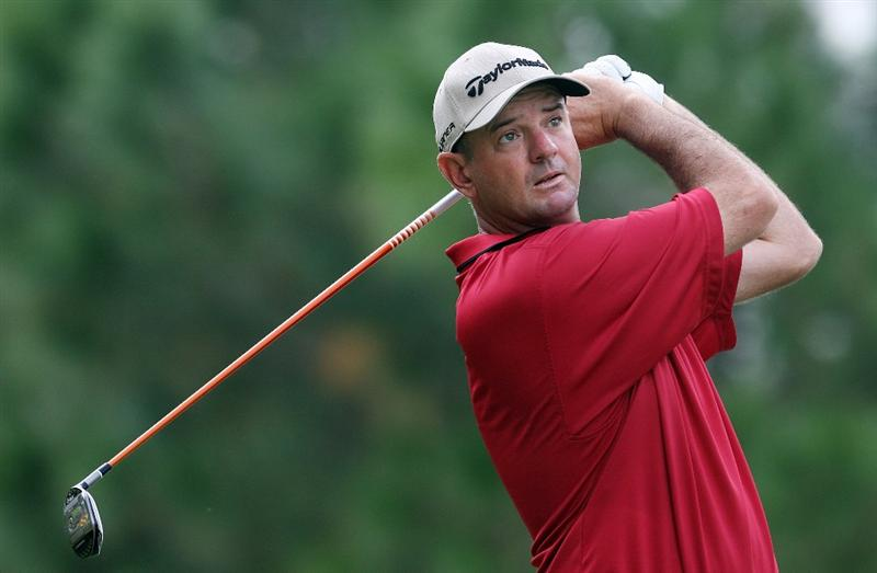 WEST PALM BEACH, FL - DECEMBER 07:  Brenden Pappas hits a tee shot during the final round of the 2009 PGA TOUR Qualifying Tournament at Bear Lakes Country Club on December 7, 2009 in West Palm Beach, Florida.  (Photo by Doug Benc/Getty Images)