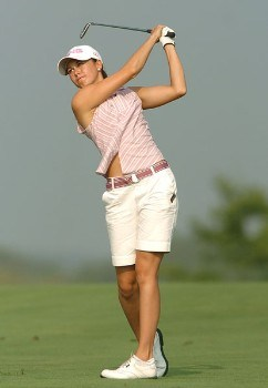 Stacy Prammanasudh in action during the third round of the 2005 Wendy's Championship for Children at the Tartan Fields Golf Club in Dublin, Ohio on Saturday August 27, 2005.Photo by Steve Grayson/WireImage.com