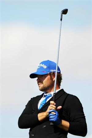 MARANA, AZ - FEBRUARY 24:  Ryan Moore watches his tee shot on the third hole during the second round of the Accenture Match Play Championship at the Ritz-Carlton Golf Club on February 24, 2011 in Marana, Arizona.  (Photo by Sam Greenwood/Getty Images)