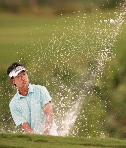 Kevin Na hits a bunker shot on the eighth hole during the third round of the Ginn Sur Mer Classic at Tesoro on October 27, 2007 in Port Saint Lucie, Florida. PGA TOUR - 2007 Ginn sur Mer Classic - Third RoundPhoto by Doug Benc/WireImage.com