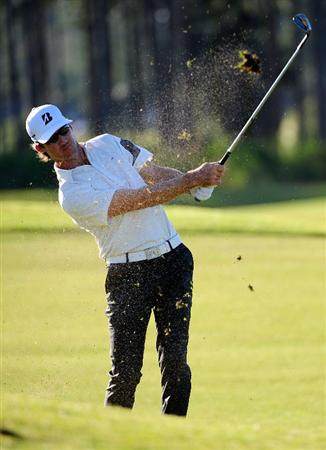PALM COAST, FL - OCTOBER 30:  Will MacKenzie hits a shot on the 7th hole during the first round of the Ginn sur Mer Classic at the Conservatory Golf Club in Palm Coast, Florida on October 30, 2008.  (Photo by Sam Greenwood/Getty Images)