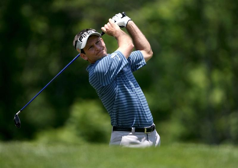 DUBLIN, OH - JUNE 06:  Mark Wilson hits his tee shot on the third hole during the third round of the Memorial Tournament on June 6, 2009 at the Muirfield Village Golf Club in Dublin, Ohio.  (Photo by Andy Lyons/Getty Images)