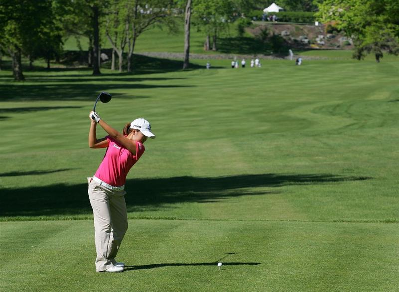 CORNING, NY - MAY 21:  Song-Hee Kim of South Korea hits her drive on the 14th hole during the first round of the LPGA Corning Classic at the Corning Country Club held on May 21, 2009 in Corning, New York.  (Photo by Michael Cohen/Getty Images)