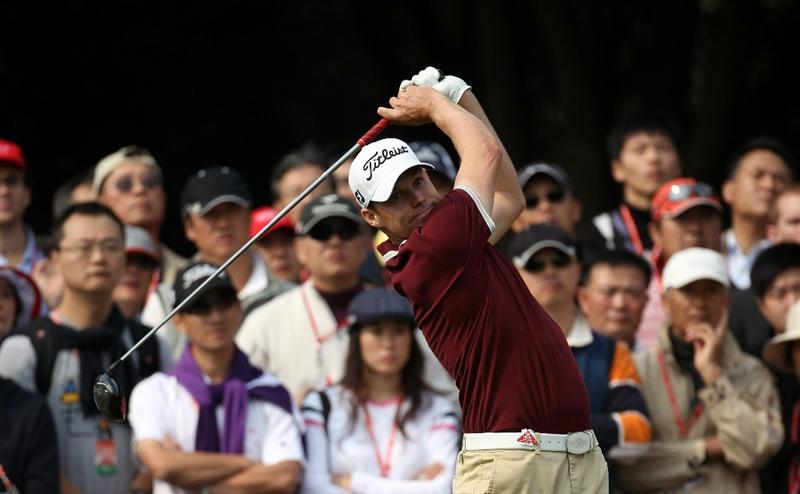 SHANGHAI, CHINA - NOVEMBER 06:  Nick Watney of the USA during the third round of the WGC - HSBC Champions at Sheshan International Golf Club on November 6, 2010 in Shanghai, China.  (Photo by Ross Kinnaird/Getty Images)