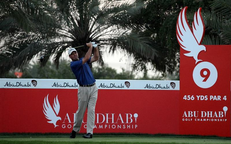 ABU DHABI, UNITED ARAB EMIRATES - JANUARY 21:  Keith Horne of South Africa on the 9th tee during the first round of the Abu Dhabi Golf Championship at Abu Dhabi Golf Club on January 21, 2010 in Abu Dhabi, United Arab Emirates.  (Photo by Ross Kinnaird/Getty Images)