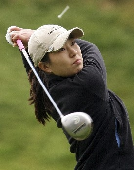 HUIXQUILUCAN, MEXICO - MARCH 10:  Shi Hyun Ahn of South Korea watches her tee shot on the fifth hole during the second round of the MasterCard Classic at Bosque Real Country Club on March 10, 2007 in Huixquilucan, Mexico.  (Photo by Scott Halleran/Getty Images)