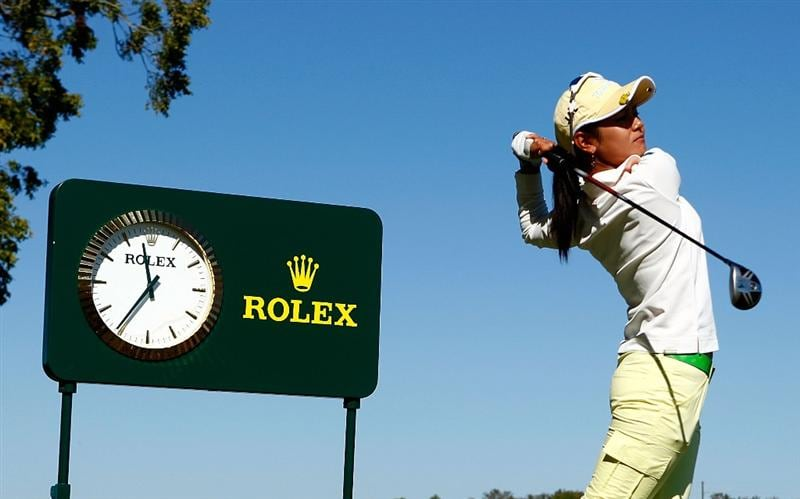 RICHMOND, TX - NOVEMBER 18:  Ai Miyazato of Japan hits a shot during the pro-am prior to the start of The LPGA Tour Championship presented by Rolex at the Houstonian Golf and Country Club on November 18, 2009 in Richmond, Texas.  (Photo by Scott Halleran/Getty Images for LPGA)
