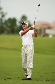 PORT SAINT LUCIE, FL - OCTOBER 26:  Daniel Chopra hits out of the fairway on the on the 12th hole during the second round of the Ginn Sur Mer Classic at Tesoro October 26, 2007 in Port Saint Lucie, Florida.  (Photo by Doug Benc/Getty Images)